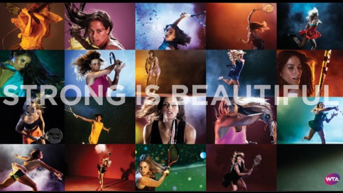 """Strong is beautiful"", la nouvelle campagne publicitaire de la WTA :) 01278111"