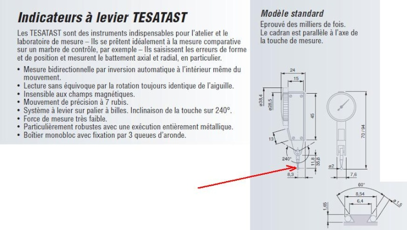 cherche pointe touche pupita TESATAST M1,2 L=12,53mm D=2mm Tesa10