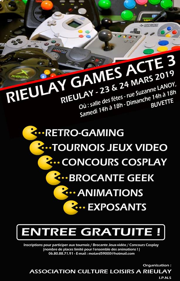 Festival jeux video (NORD 59) GAMES OF THE NORTH le 21 avril à beuvry la foret - 800 m2 50740810