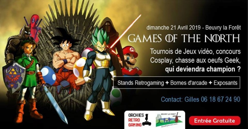 Festival jeux video (NORD 59) GAMES OF THE NORTH le 21 avril à beuvry la foret - 800 m2 51464710