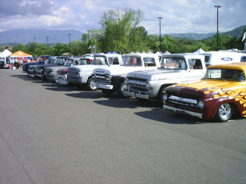 Nine of these cool trucks lined up in TN Supern10