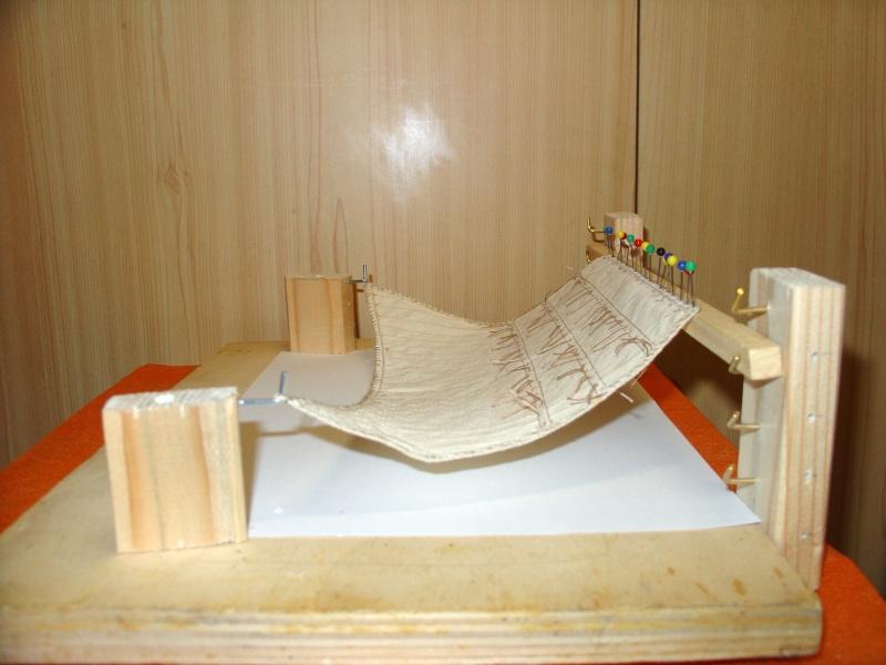 vele - Formatura vele per simulare l'azione del vento. Per vele latine e quadre Figura12