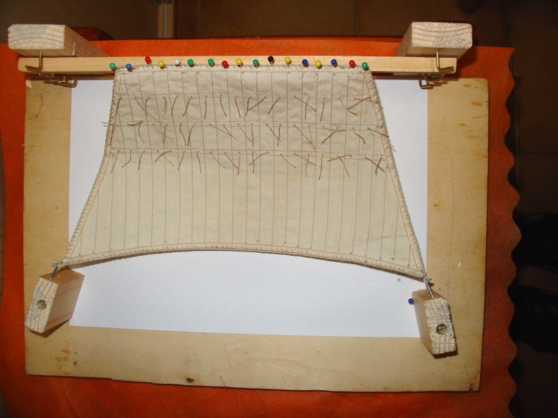 vele - Formatura vele per simulare l'azione del vento. Per vele latine e quadre Figura13