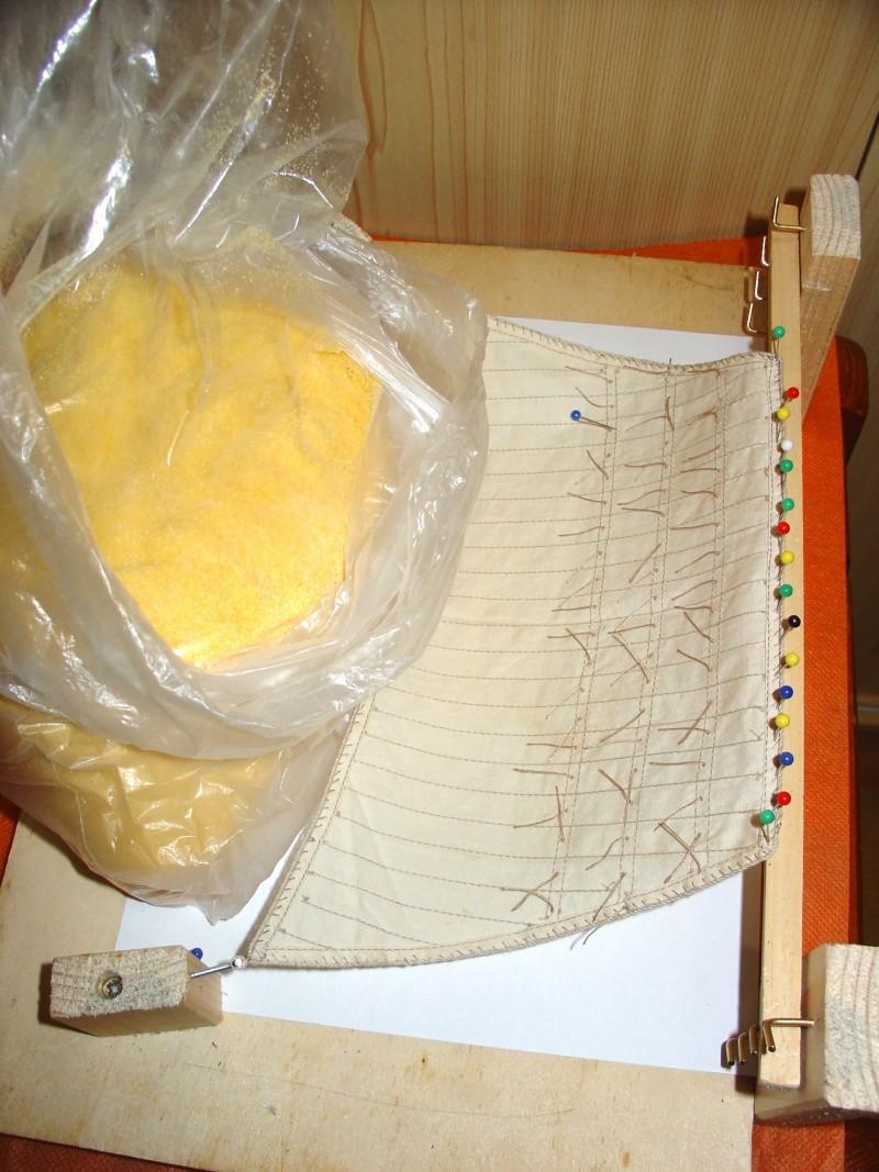 vele - Formatura vele per simulare l'azione del vento. Per vele latine e quadre Figura14