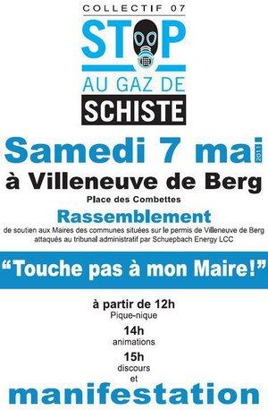 Villeneuve de Berg (07) RASSEMBLEMENT de soutien aux Maires 21528210