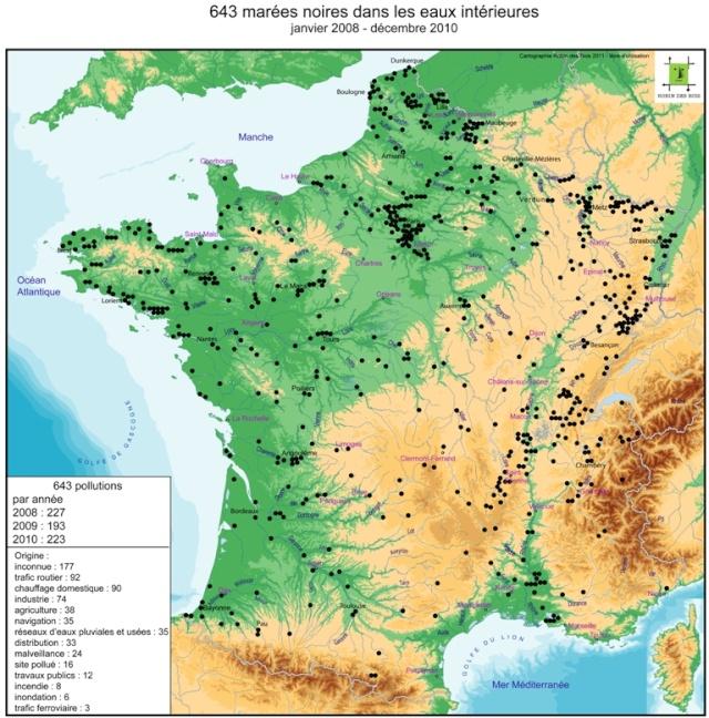dossier - Dossier sur les sites SEVESO, PCB et marées noires en eaux intérieures : une pollution à la française (cartes, images, pdf, ...). 2008_210