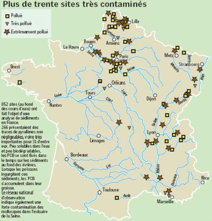 dossier - Dossier sur les sites SEVESO, PCB et marées noires en eaux intérieures : une pollution à la française (cartes, images, pdf, ...). Pcb10