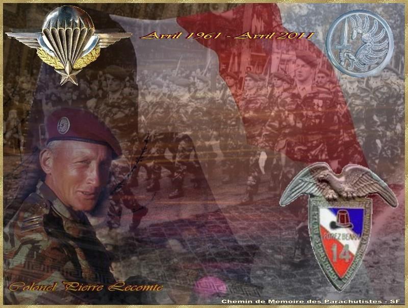 HOMMAGE AU Colonel Pierre Lecomte  Chef de Corps du 14e RCP dans la tourmente du Putsch d'Alger - avril 1961 14e_rc11