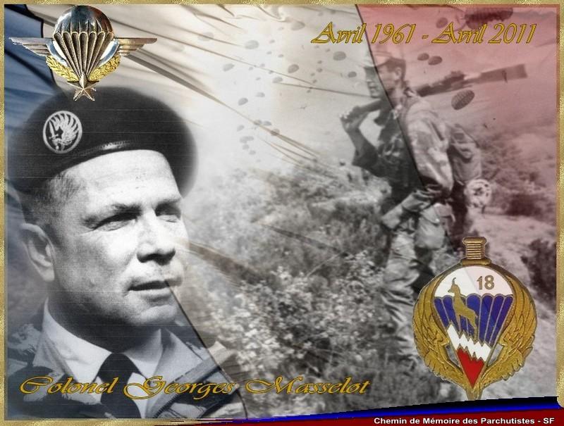 HOMMAGE au 18e RCP et au colonel Georges Masselot qui pris part au Putsch d'Alger le 21 avril 1961 18e10