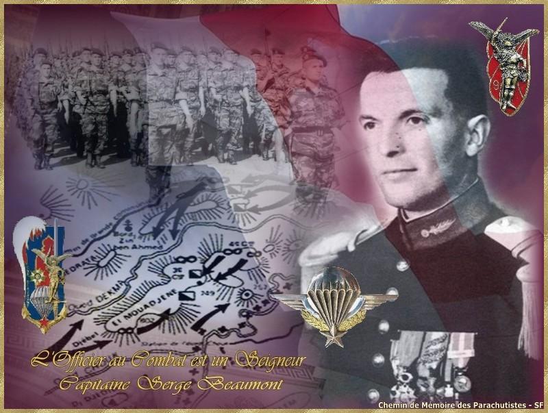 BEAUMONT Serge capitaine 1er RCP-9e RCP L'officier au combat est un seigneur - mort au Champ d'Honneur le 29 avril 1957  Cpte_s10