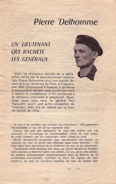 Pierre Delhomme CPA40 => Putsch => OAS Delhom10