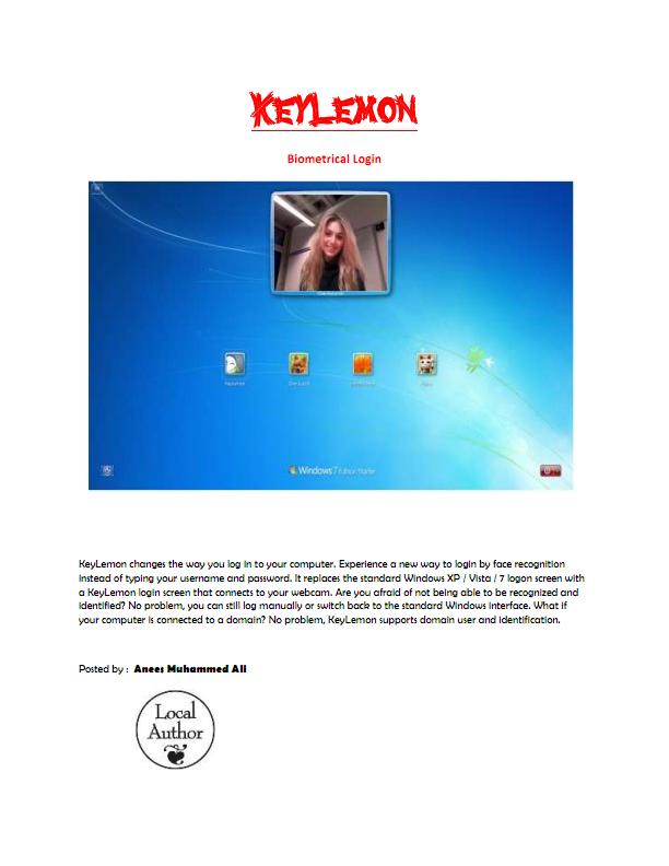 KeY Lemon Biometric Login Keylem10