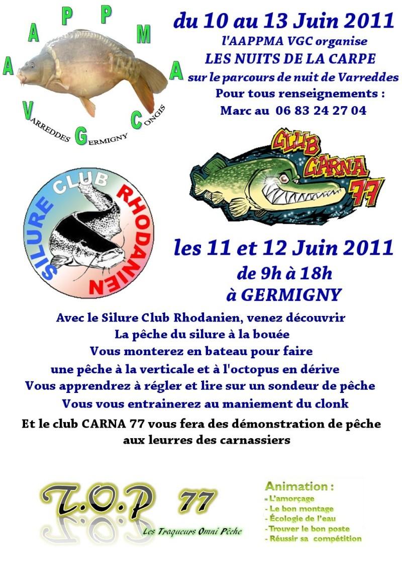 Le 10 11 12 13 juin = animation a Germigny (77) Affich10