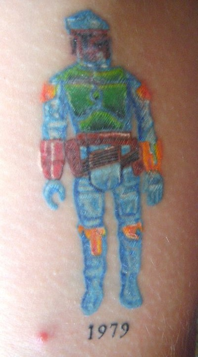 Star Wars Tattoos Boba_f11