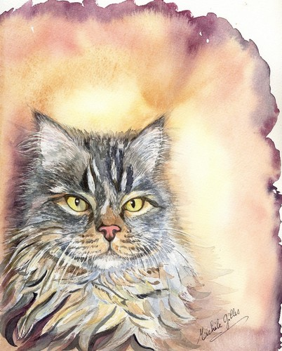 Chat aquarelle - Page 2 Chat1910