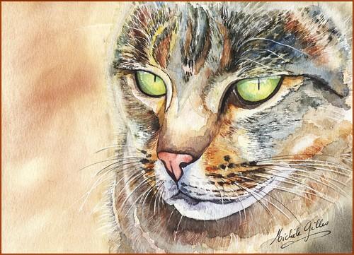 Chat aquarelle Chat2310