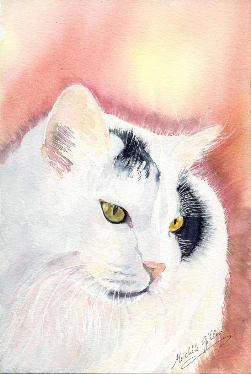 Chat aquarelle Chatdu11