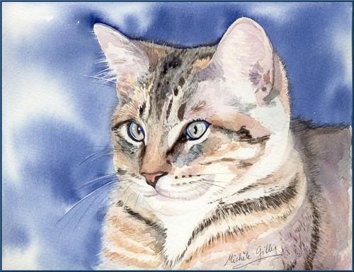 Chat aquarelle Chatdu12