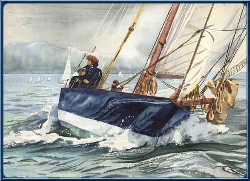 Bateaux aquarelles R510