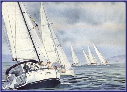 Bateaux aquarelles Regate12