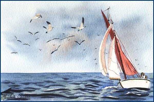 Bateaux aquarelles - Page 2 Voile_11