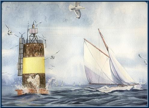 Bateaux aquarelles Voilie10