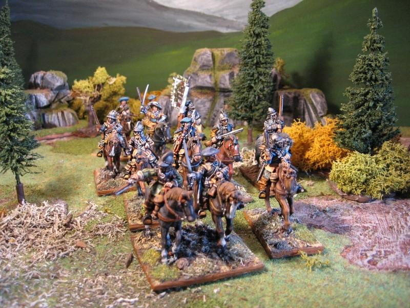 Cavalerie écossaise 28 mm Lancie11