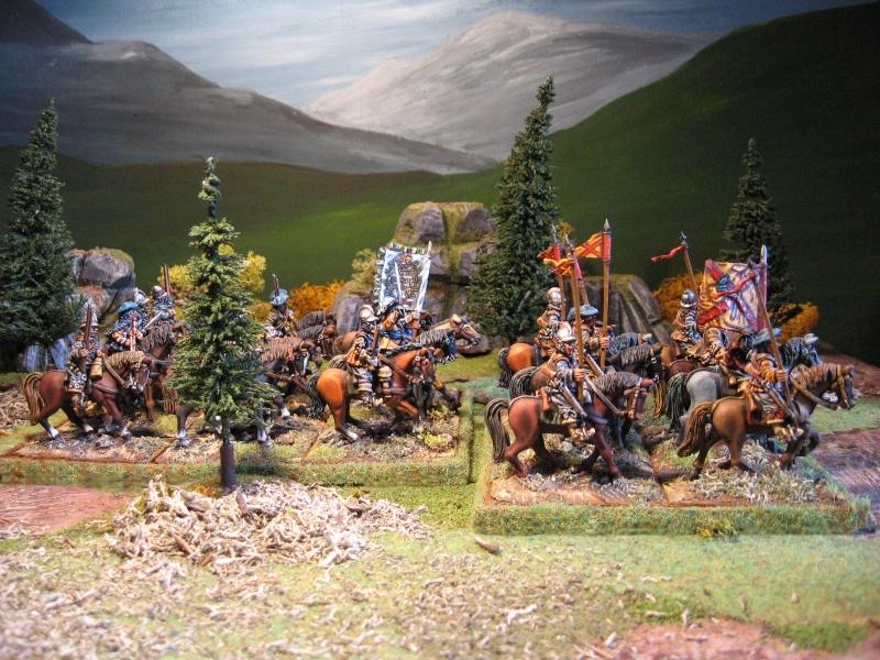 Cavalerie écossaise 28 mm Lancie12