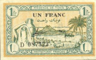 العملة الورقية الجزائرية في عهد الإستعمار الفرنسي 1_fran10