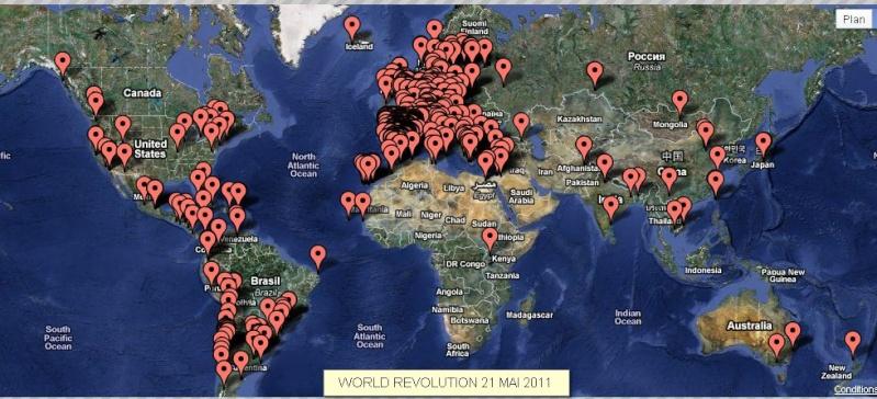 La carte des rassemblements des indignes dans le Monde + lien site 24098510