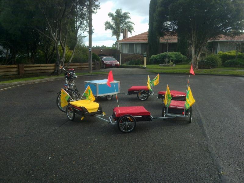 Multi Combination Bicycle Trailer Setup 17062011
