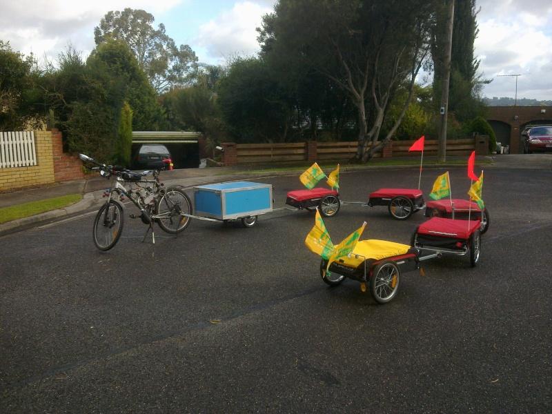 Multi Combination Bicycle Trailer Setup 17062012