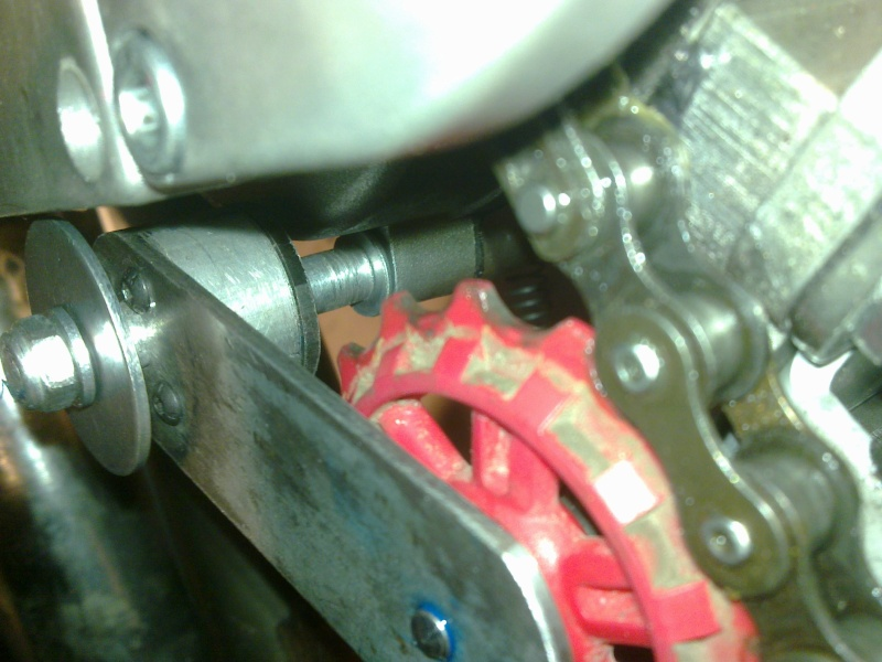 Chain Tensioner for 2-stroke engine and SickBikeParts (SBP, Sick Bikeparts) shift kit 28022027