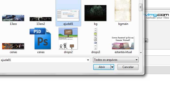 Como postar imagens e redimensioná-las Ajuda012
