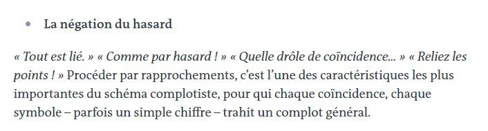 Bigard : Théorie du complot.  Hasard10