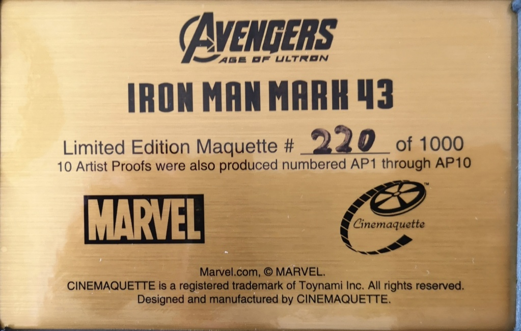 """Collection n°413 : ikki's """"IRONMAN MK43 CINEMAQUETTE""""  - Page 44 Img_2012"""