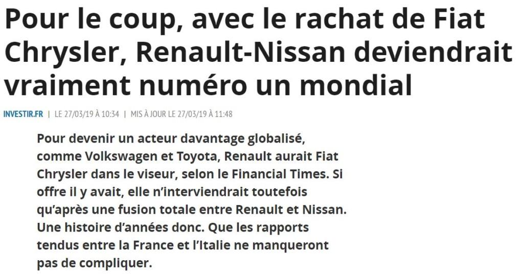Après Peugeot, c'est finalement Renault qui rachète FCA Captu398