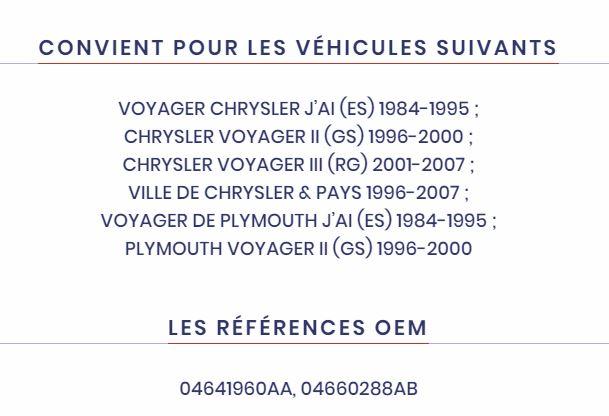 cardans avant chrysler s2 GV 3.3 AWD Captu527