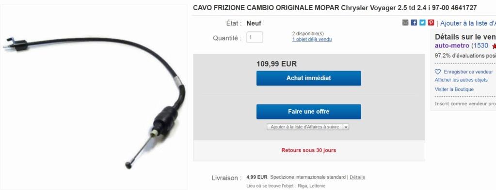 Cable d'embrayage S3 2.4 Captu803