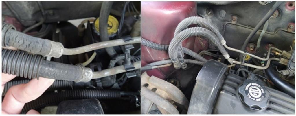 Tuyaux / conduites de carburant / essence, 2.5 L essence S2 1995 Captu979