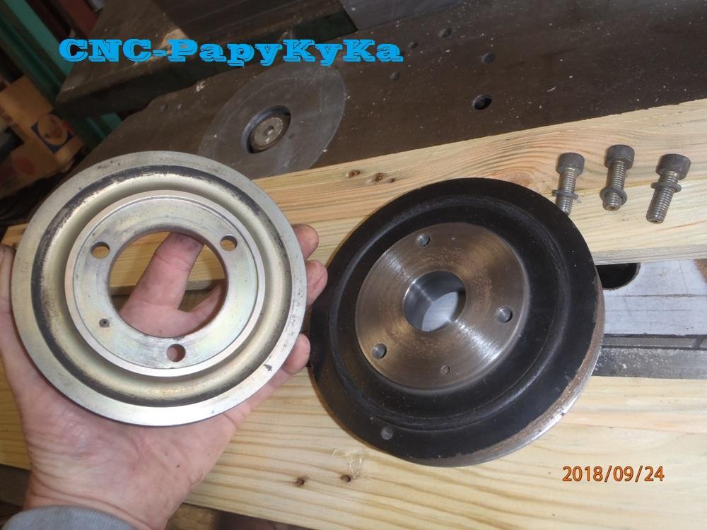 PapyKy démonte une poulie vibrequin 2.500 cc TD P9240428