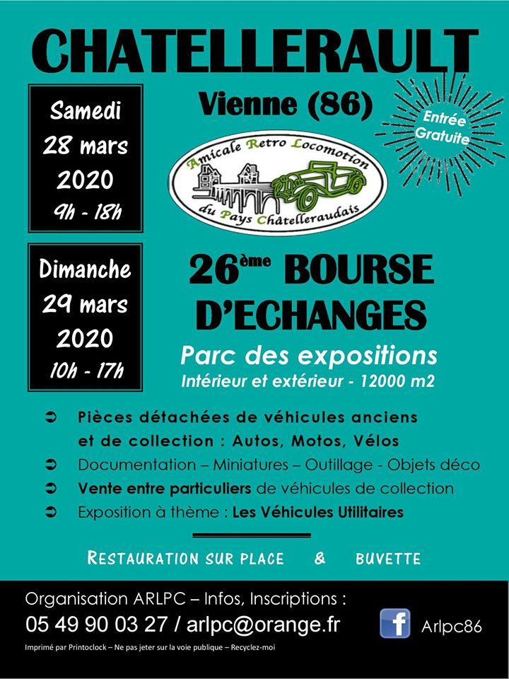 28 et 29 mars 2020 bourse d'échange à Chatellerault 86 ANNULÉE  Chatel10