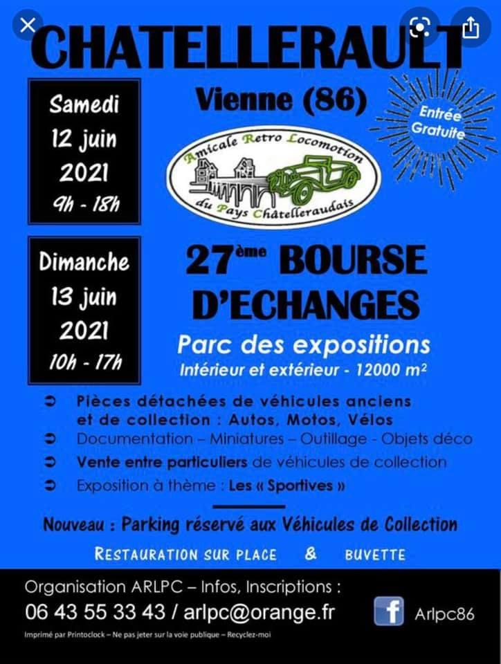 Bourse d'échange à Chatellerault (86) le 12 et 13 juin 2021 Chatel11