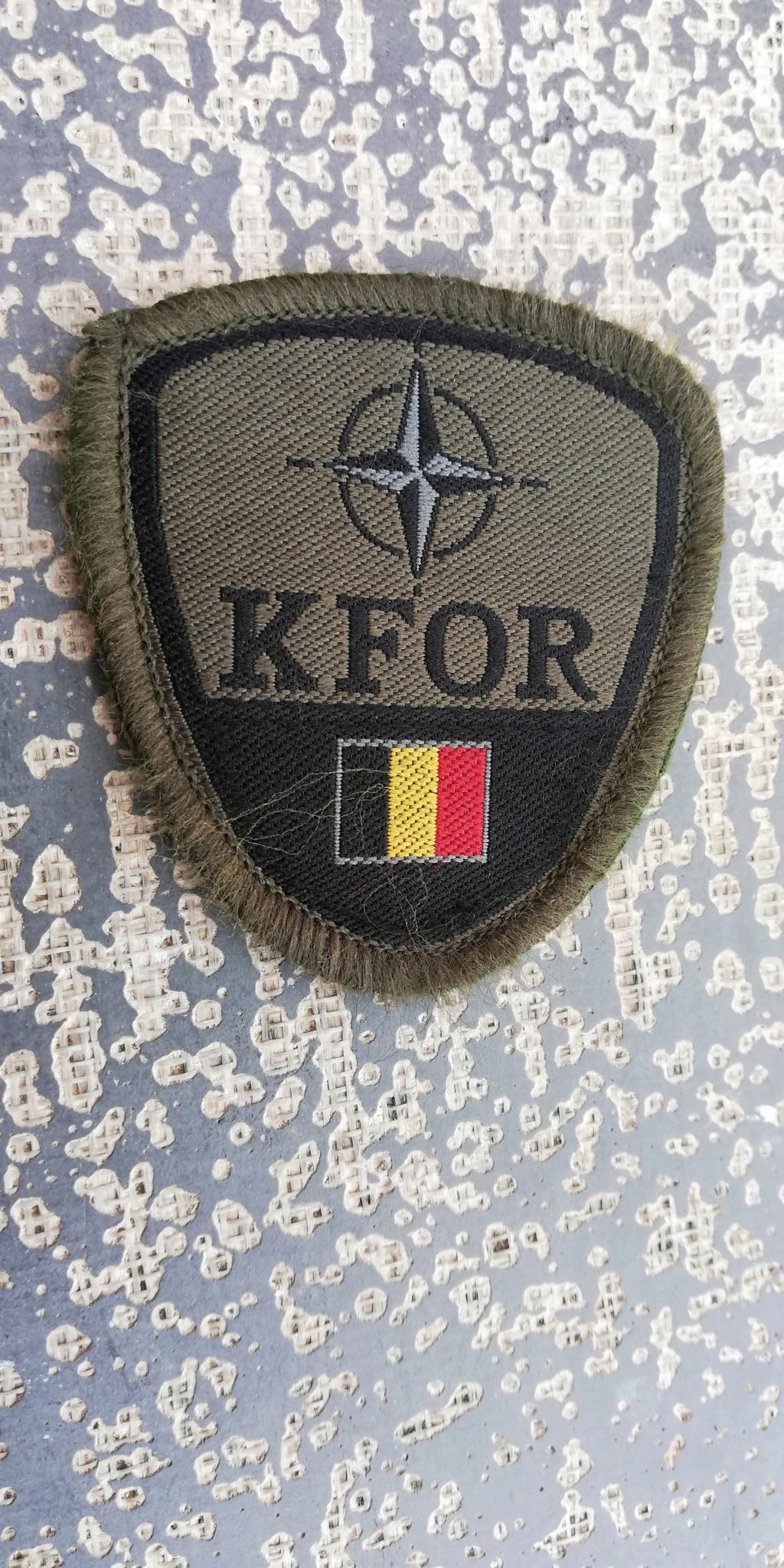 INSIGNES BELGES * MISSION EXTERIEURE OTAN ISAF ONU KFOR ISFOR SFOR ... Img_2285