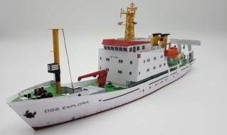 OGS  EXPLORA  Ein Forschungsschiff M 1: 100, nicht von Pappe  20190110