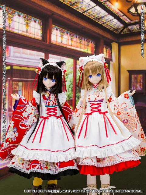 [Azone] 1/3 Ellen Time of eternal VI Taisho Roman White Cat Rondo / Alice Time of grace IV Taisho Roman Black cat Rondo  45731938