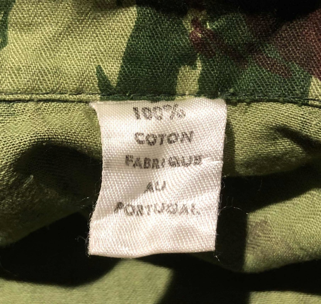 Portuguese Camo F1 Cut Export Uniform with French language tag Tag13