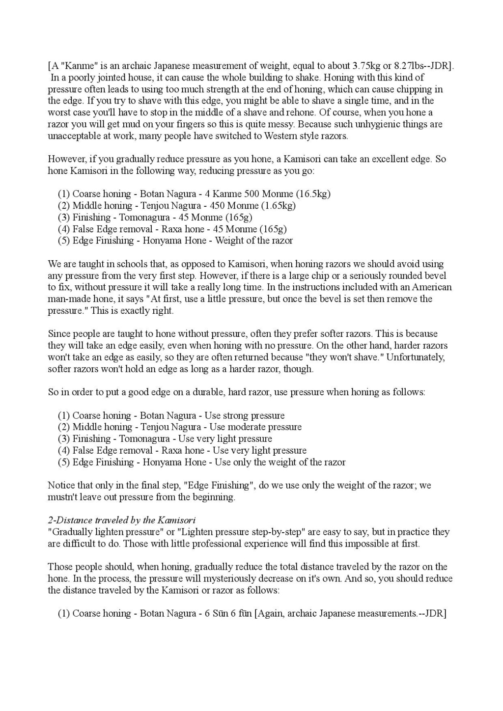 Iwasaki et Naomi, leurs conseils - Page 2 Honing24