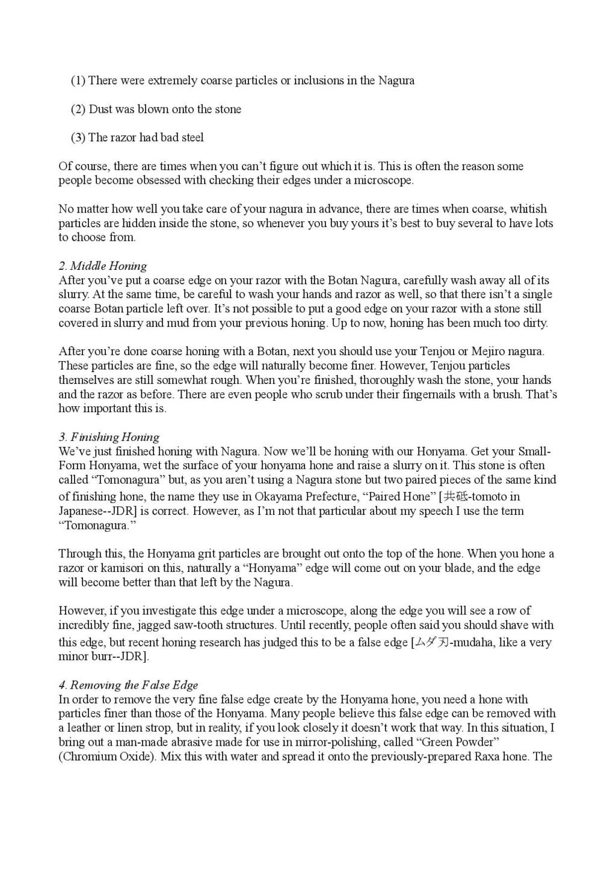 Iwasaki et Naomi, leurs conseils - Page 2 Honing25