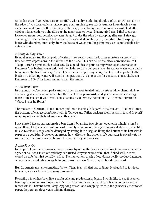 Iwasaki et Naomi, leurs conseils - Page 2 Honing31